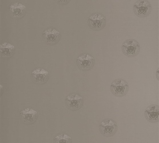 Wallpaper Versace Home Medusa silver grey metallic 34862-3