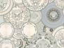 Wallpaper Versace Home dish silver white metallic 34901-3 001