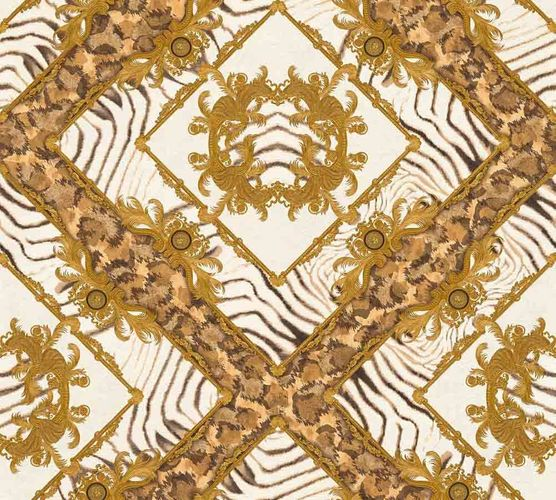 Wallpaper Versace Home zebra ornament brown metallic 34904-3