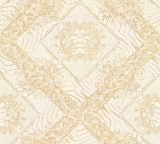Wallpaper Versace Home zebra ornaments cream metallic 34904-4 online kaufen