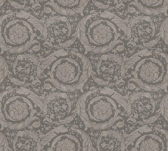 Wallpaper Versace Home flower grey metallic 93583-6 online kaufen