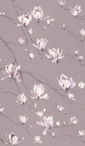 Vliestapete Rasch Textil Blumen Äste flieder Glanz 227504 online kaufen