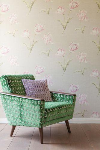Wallpaper Rasch Textil flower nature cream grey 227580 online kaufen