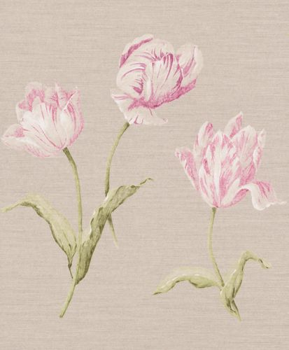 Wallpaper Rasch Textil flower nature cream grey 227580