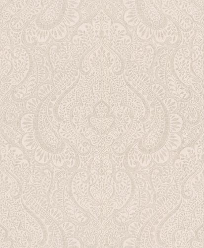Wallpaper Rasch Textil ornaments cream gloss 227825