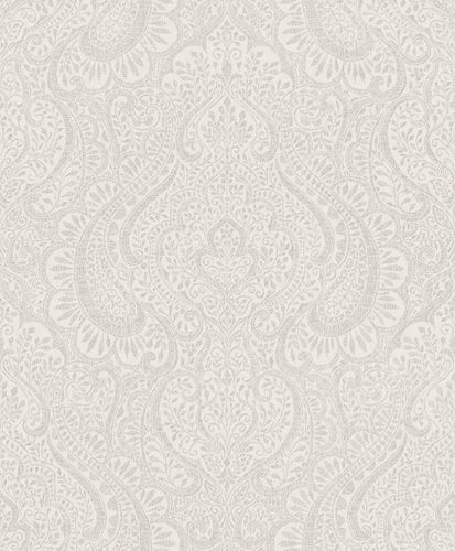 Wallpaper Rasch Textil ornaments light grey 227832