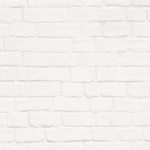 Tapete World Wide Walls Stein-Optik Steinwand weiß 138533