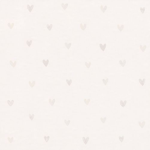 Kids Wallpaper Cute Hearts white silver gloss 138864 online kaufen