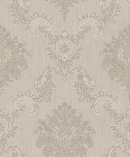 Textile Wallpaper Rasch Textil ornament grey glitter 079066