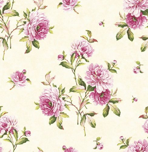 Wallpaper flower bloom cream rose gloss 040816 online kaufen