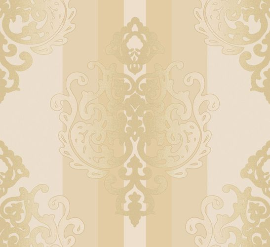 Wallpaper baroque cream beige glitter 109013
