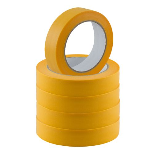 Set of 5 Gold-Tape Adhesive Crepe Masking Tape 25mm x 50m