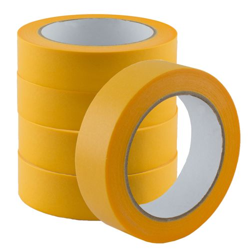 Set of 5 Gold-Tape Adhesive Crepe Masking Tape 30mm x 50m
