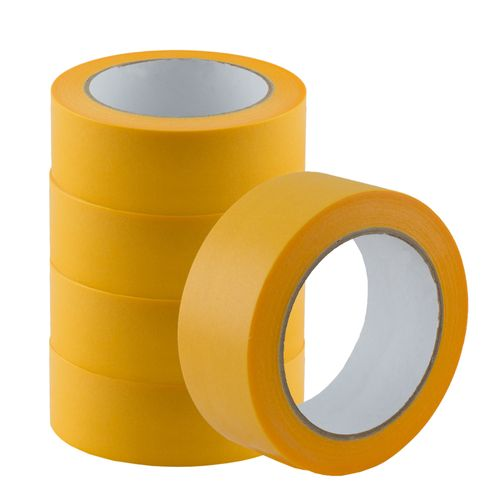 Set of 5 Gold-Tape Adhesive Crepe Masking Tape 38mm x 50m