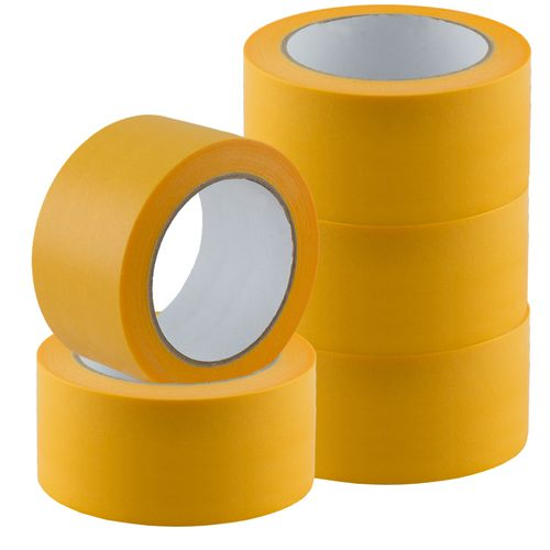 Set of 5 Gold-Tape Adhesive Crepe Masking Tape 50mm x 50m online kaufen
