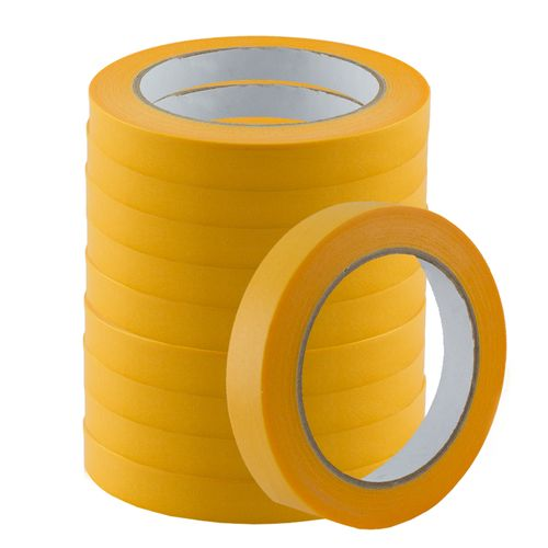 Set of 10 Gold-Tape Adhesive Crepe Masking Tape 19mm x 50m online kaufen