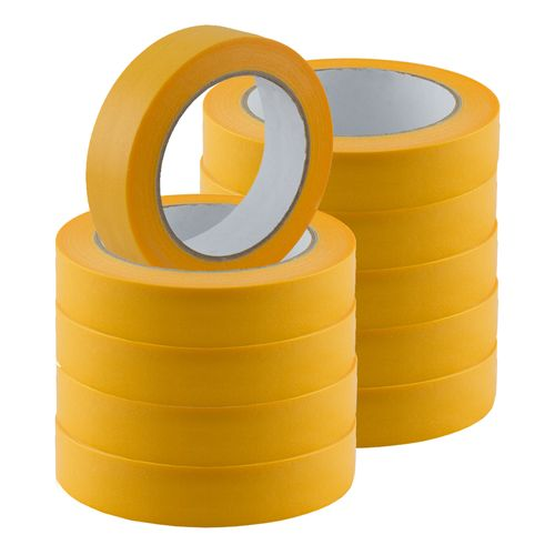 Set of 10 Gold-Tape Adhesive Crepe Masking Tape 25mm x 50m online kaufen