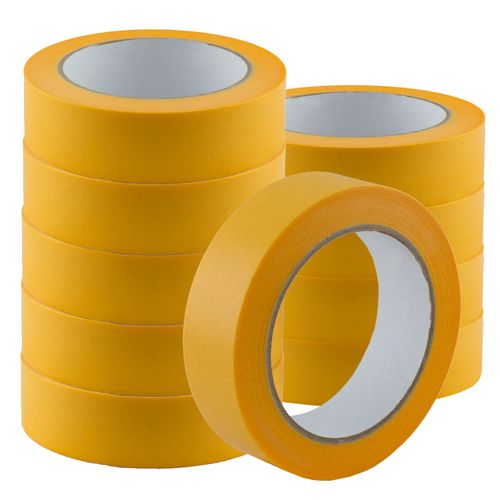 Set of 10 Gold-Tape Adhesive Crepe Masking Tape 30mm x 50m online kaufen