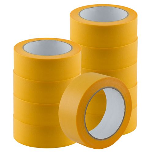 Set of 10 Gold-Tape Adhesive Crepe Masking Tape 38mm x 50m