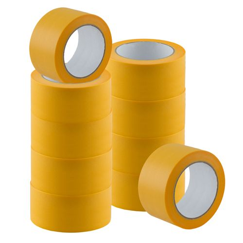 Set of 10 Gold-Tape Adhesive Crepe Masking Tape 50mm x 50m online kaufen