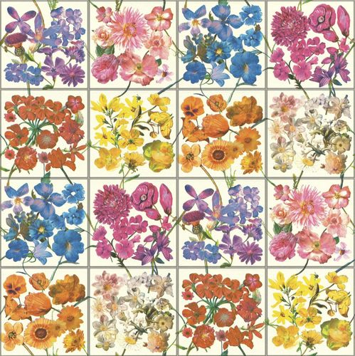 Wallpaper Rasch tiles flower bloom colourful 303407 online kaufen