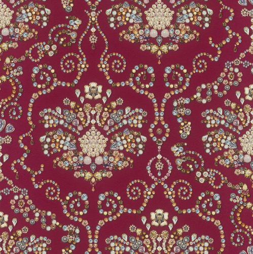 Wallpaper Rasch pearl baroque classic red colourful 307610