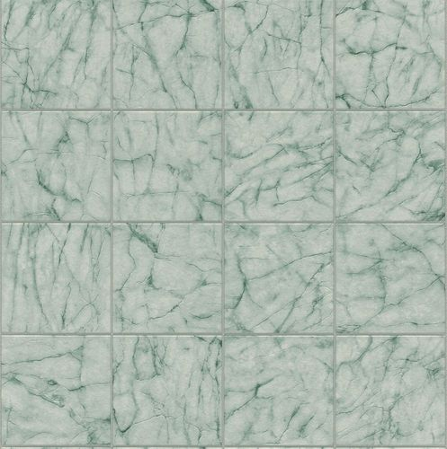 Wallpaper Rasch marble tiles design blue green grey 899412 online kaufen