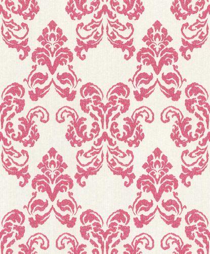 Wallpaper Rasch Textil ornaments pink glitter 072135