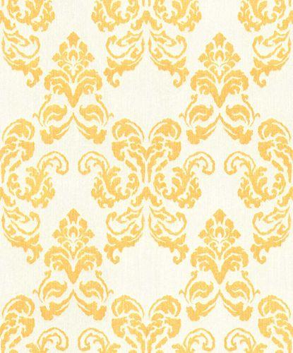Wallpaper Rasch Textil ornaments yellow glitter 072142
