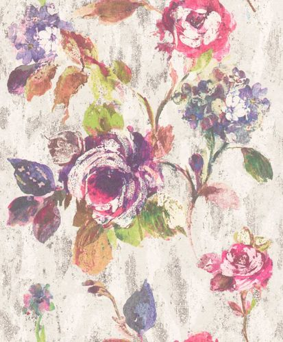 Wallpaper Rasch Textil floral abstract colourful 228488 online kaufen