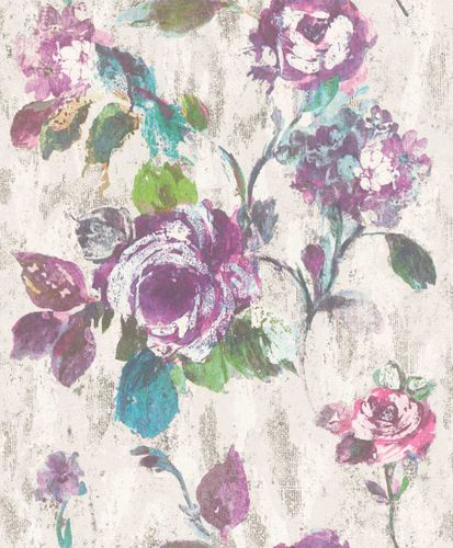 Wallpaper Rasch Textil floral abstract colourful 228495 online kaufen