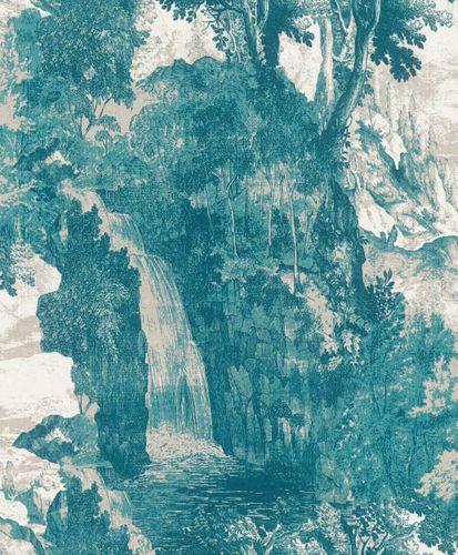Wallpaper Rasch Textil landscape turquoise 228532 online kaufen