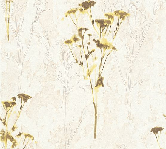 Wallpaper floral nature cream green AS Creation 34398-1 online kaufen