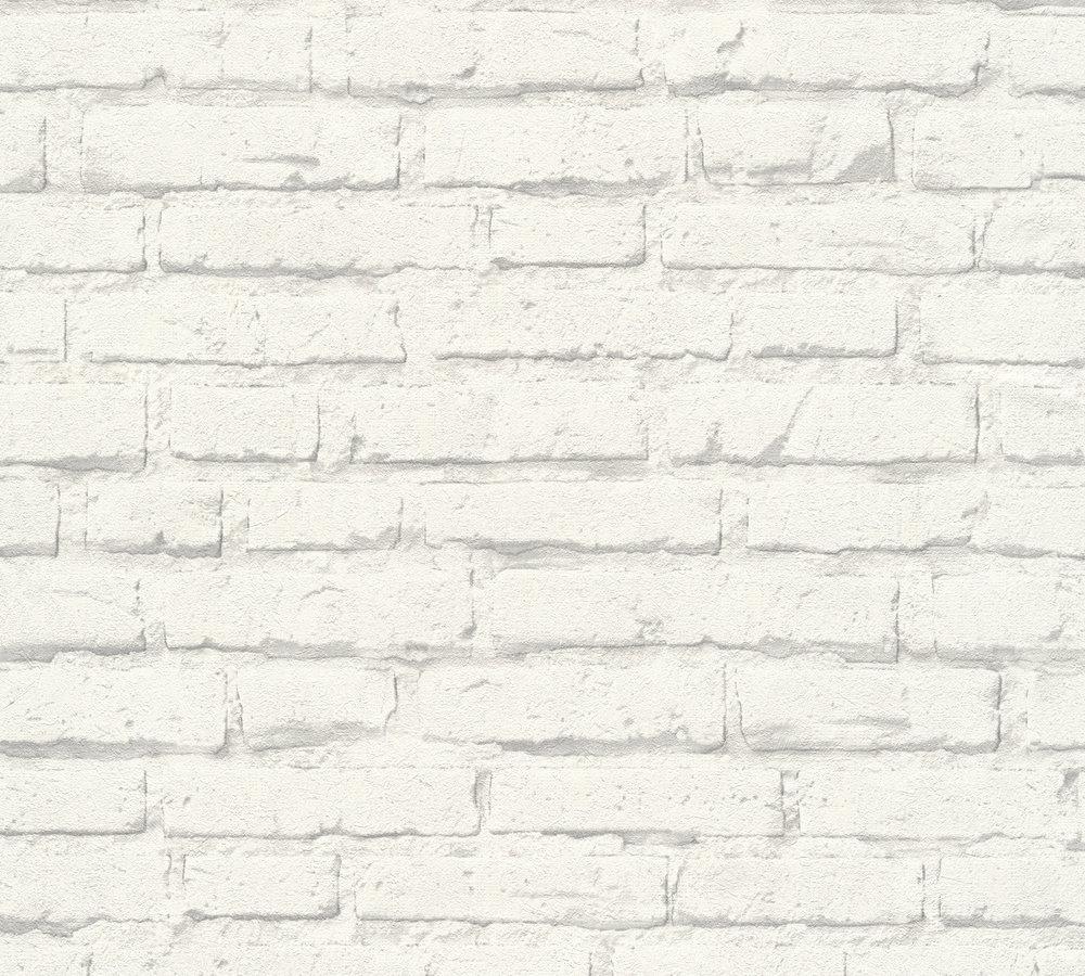 vliestapete stein optik wei hellgrau as creation 34399 2. Black Bedroom Furniture Sets. Home Design Ideas