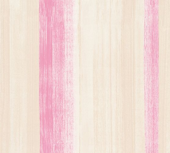 Wallpaper stripes pink cream AS Creation 34450-2 online kaufen