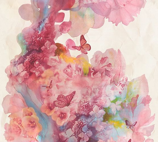 Vliestapete Natur Aquarell creme pink AS Creation 34451-1 online kaufen