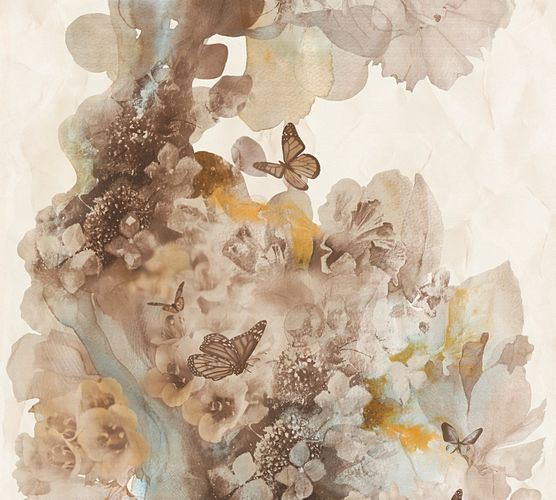 Wallpaper nature butterfly cream brown AS Creation 34451-4 online kaufen
