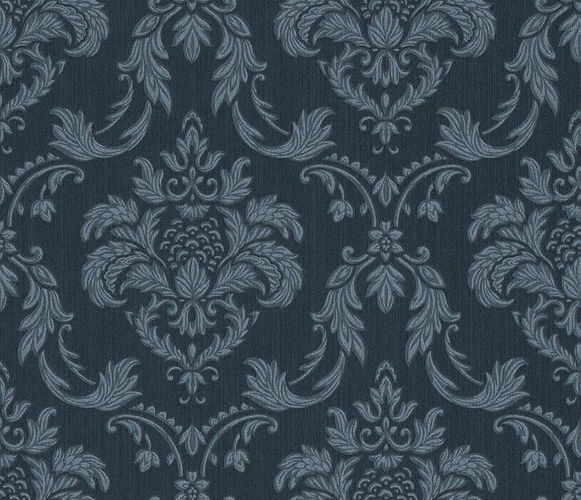 Textile Wallpaper Rasch Textil baroque blue silver 078069