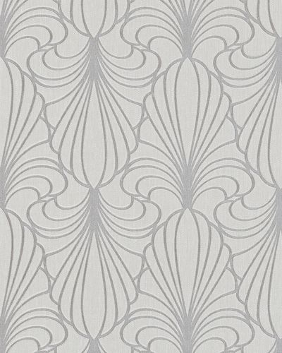 Wallpaper ornaments grey glitter Marburg 59074
