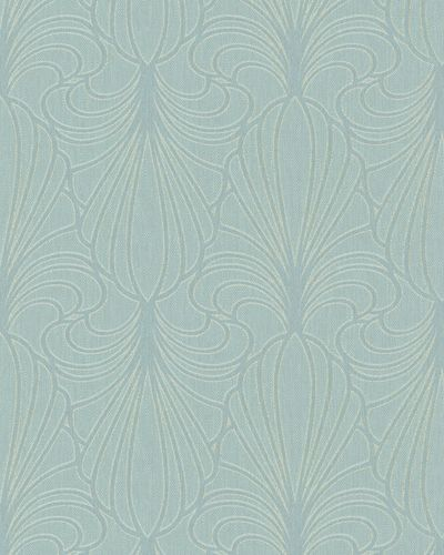 Wallpaper ornaments turquoise glitter Marburg 59075
