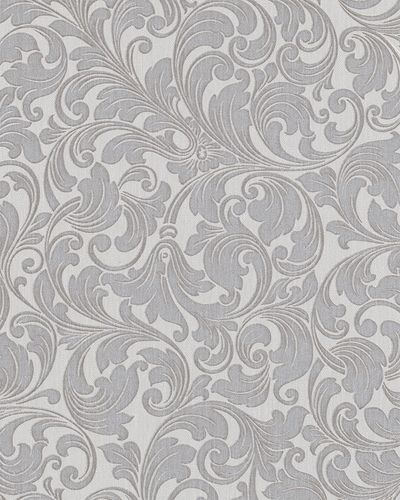 Wallpaper baroque tendrils grey glitter Marburg 59078