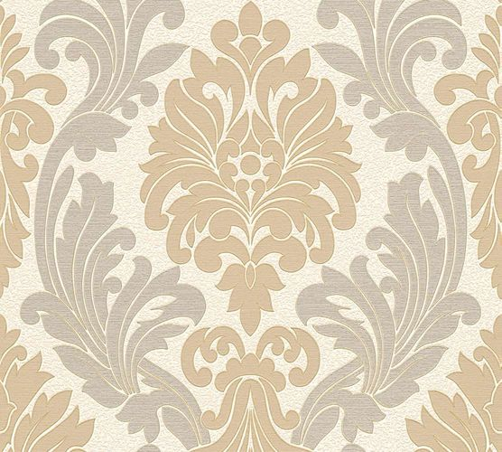 Wallpaper baroque white grey AS Creation 30754-3