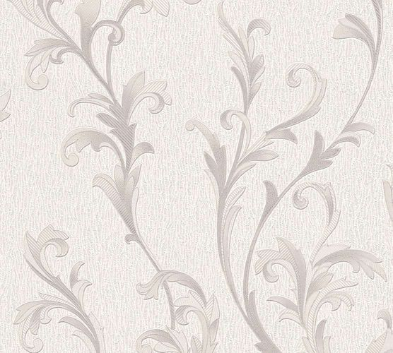 Papiertapete Ranken Floral weiß grau AS Creation 32476-4 online kaufen