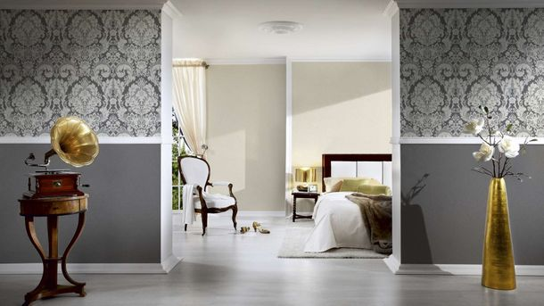 Wallpaper plain design grey AS Creation 34455-4 online kaufen