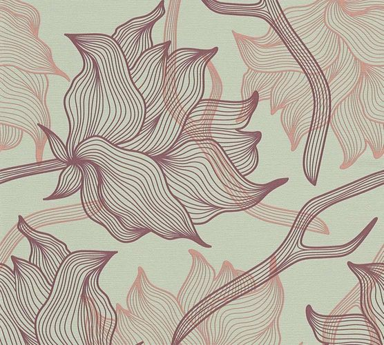 Wallpaper Lars Contzen floral graphic grey purple 34089-2 online kaufen