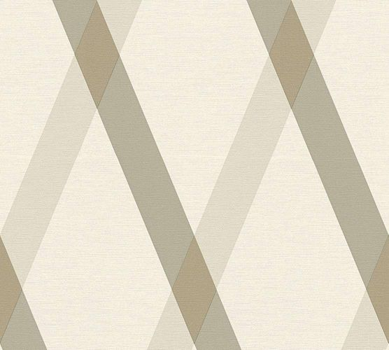 Wallpaper Lars Contzen checked stripes white brown 34110-5 online kaufen