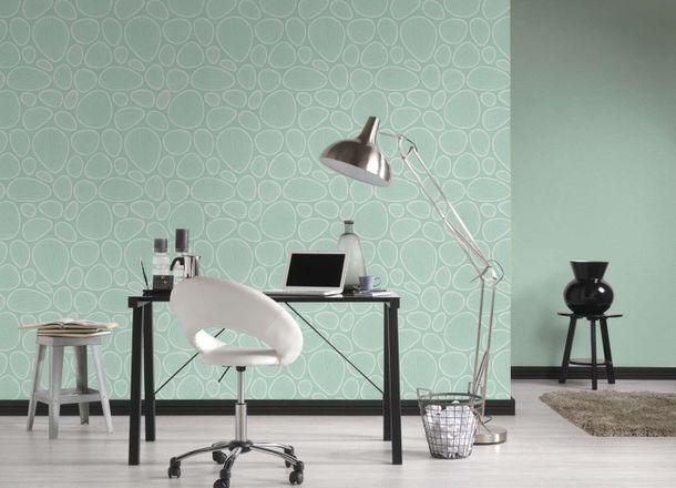 Wallpaper Lars Contzen graphic oval turquoise cream 34122-3 online kaufen