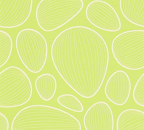 Wallpaper Lars Contzen graphic oval green cream 34122-4 online kaufen