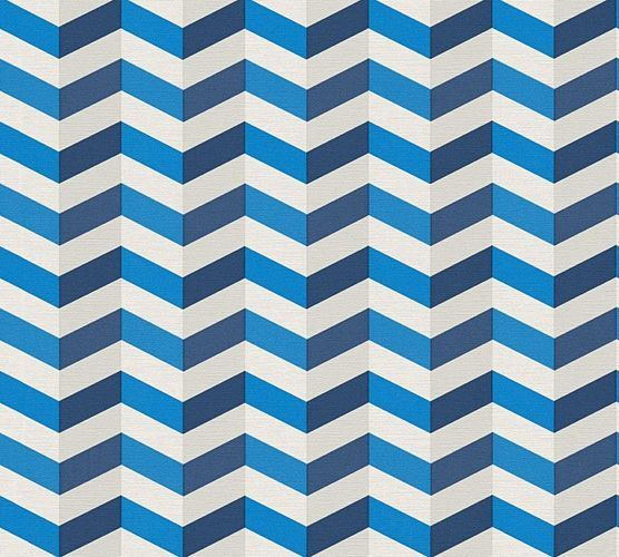 Vliestapete Lars Contzen 3D Ethno blau weiß 34123-1 online kaufen