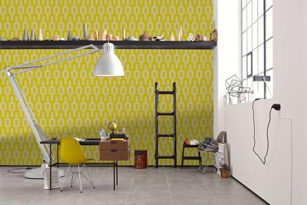 Wallpaper Lars Contzen graphic yellow green 34124-4 online kaufen